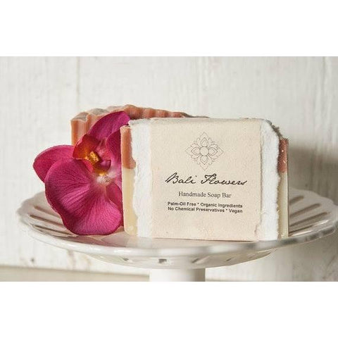 Bali Flowers Organic Handmade Soap Palm Oil Free Bar