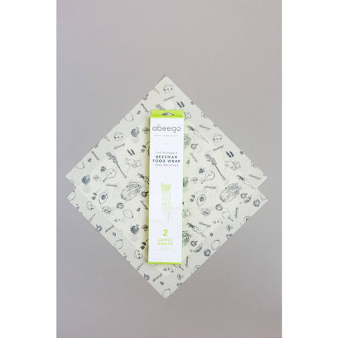 Abeego Beeswax Variety Pack Food Wraps - Pkg of 3