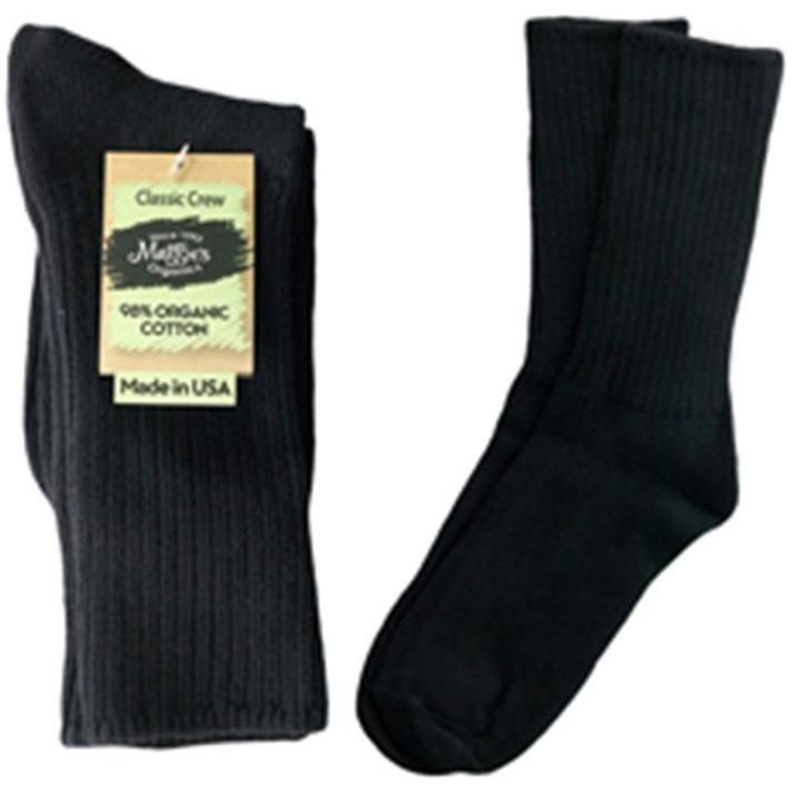 Maggie's Organics Cotton Crew Socks Singles Made in USA Choice of Colors & Sizes - Robinsons Nest - 8