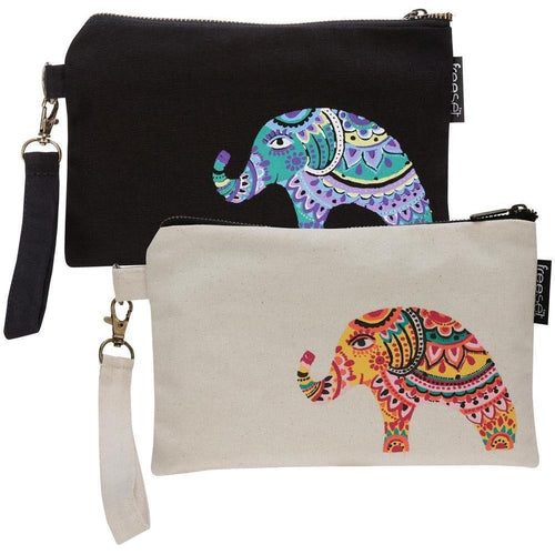 Bohemian Elephant Clutch by Global Girlfriend 100% Organic Cotton Fair Trade - Robinsons Nest