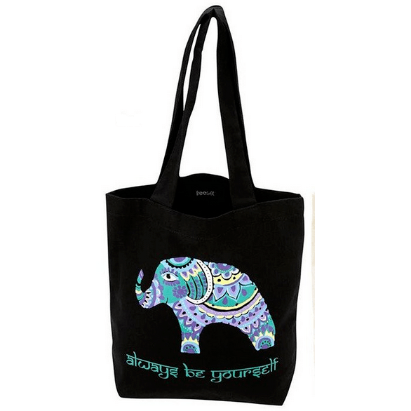 Bohemian Elephant Tote by Global Girlfriend 100% Organic Cotton Fair Trade - Robinsons Nest - 2