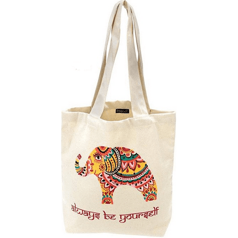 Bohemian Elephant Tote by Global Girlfriend 100% Organic Cotton Fair Trade - Robinsons Nest - 1