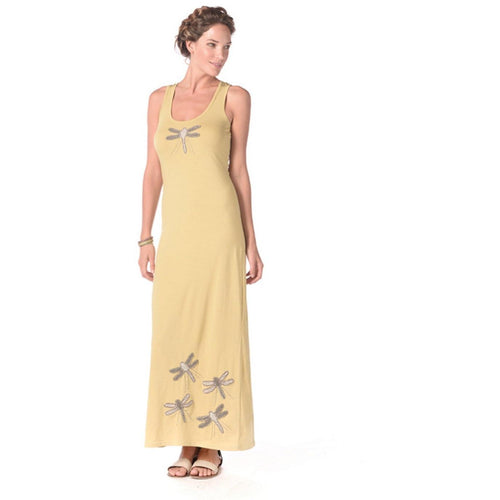 Synergy Organic Clothing Dragonfly Maxi Tank Dress - Robinsons Nest - 1