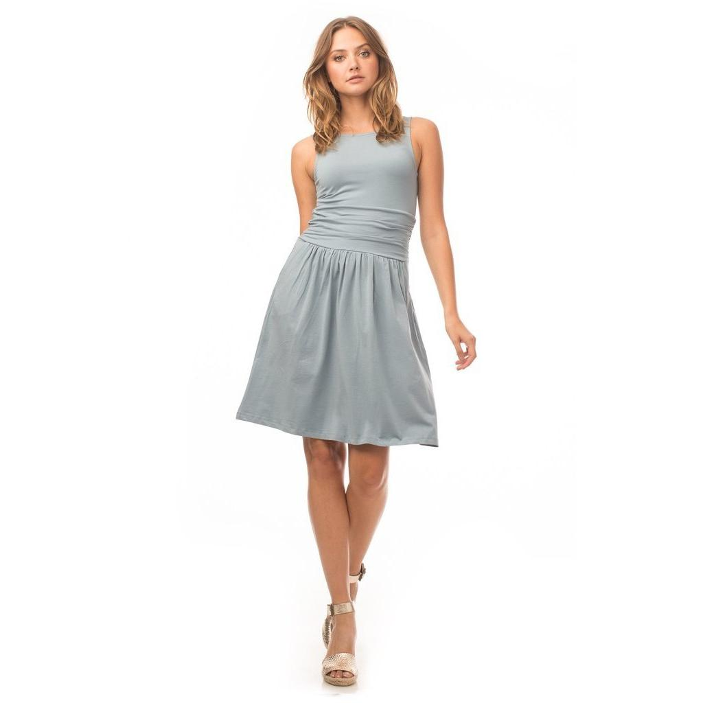 Synergy Organic Lexi Dress - Washed Denim - Robinsons Nest