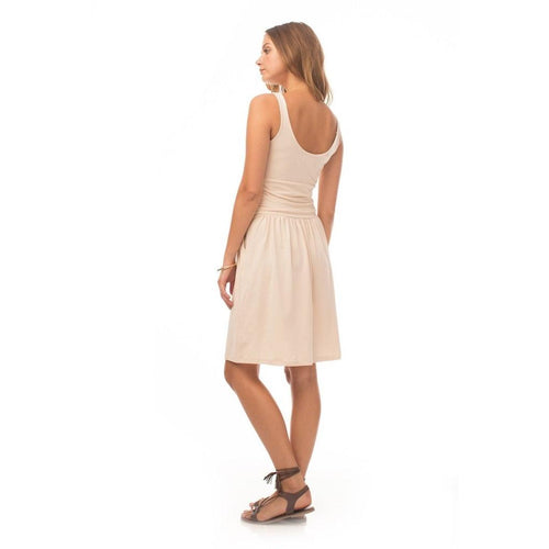 Synergy Organic Lotus Alix Dress - Sand Dollar XL Only - Robinsons Nest