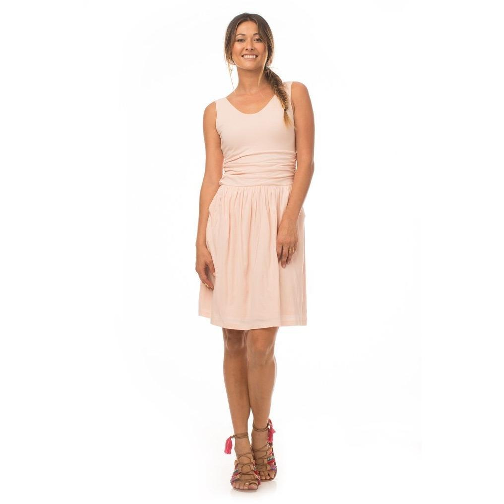 Synergy Organic Moxie Tissue Knit Dress - Rose - Robinsons Nest