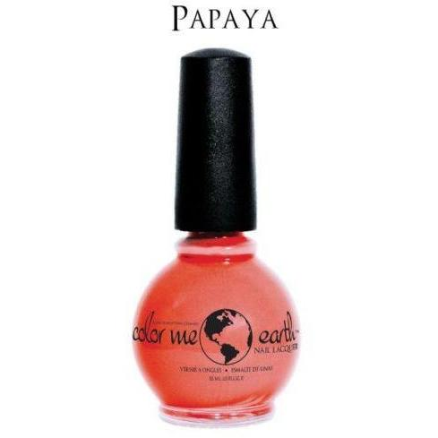 Color Me Earth Vegan 4 Free Nail Lacquer - Papaya - Robinsons Nest