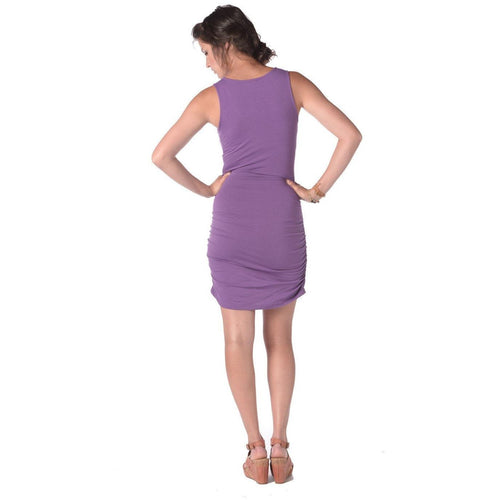 Synergy Organic Clothing Peacock Bella Dress in Purple Orchid - Robinsons Nest - 2