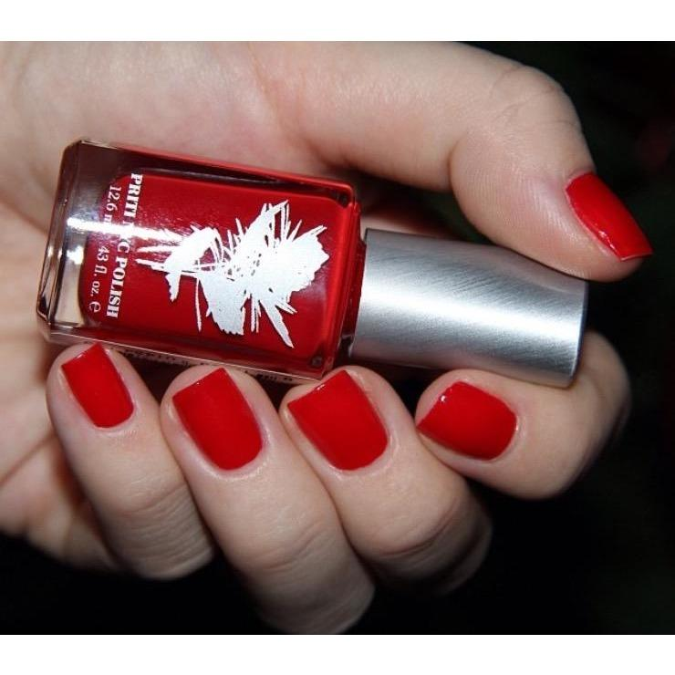 Priti NYC Vegan and Natural Nail Polish - Red Parrot Tulip - Robinsons Nest
