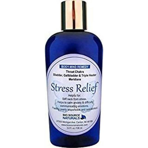 Body Mind Stress Relief Lotion with Bach Flower Essences, Pure Essential Oils & Gem Elixirs - Robinsons Nest