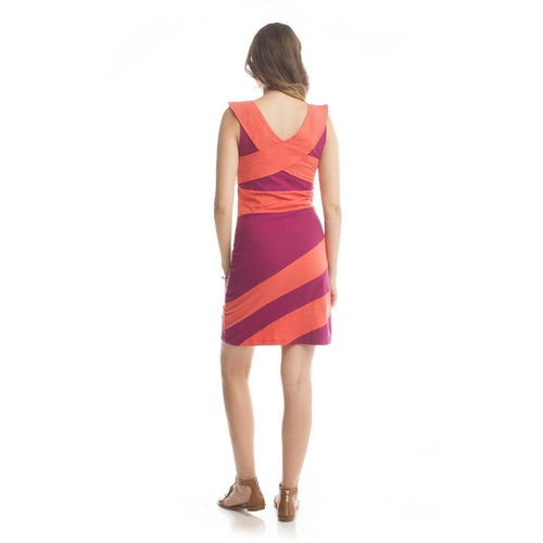 Synergy Organic Clothing Criss Cross Dress - Beet/Coral - Robinsons Nest