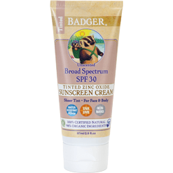 Badger Organic SPF 30 Tinted Sunscreen Unscented for Face & Body - Robinsons Nest
