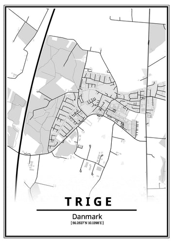 Trige plakat-Customized Product-CityPosters.dk