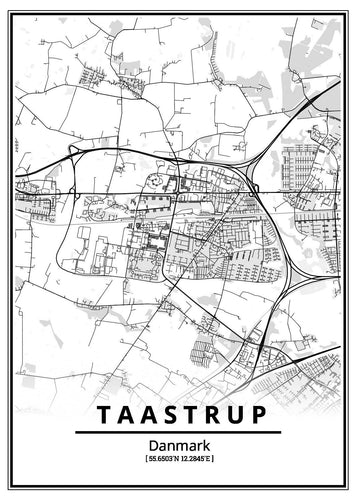 Taastrup plakat-Customized Product-CityPosters.dk