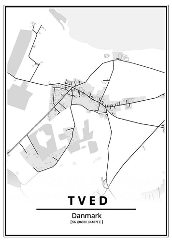 Tved plakat-Customized Product-CityPosters.dk
