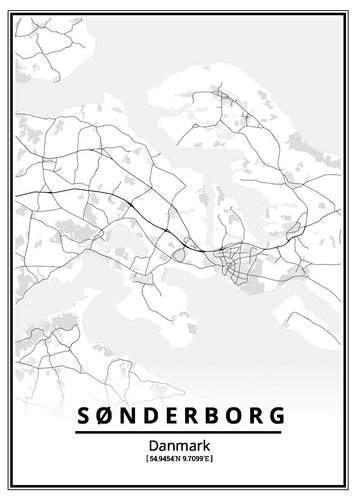 Sønderborg plakat-Customized Product-CityPosters.dk