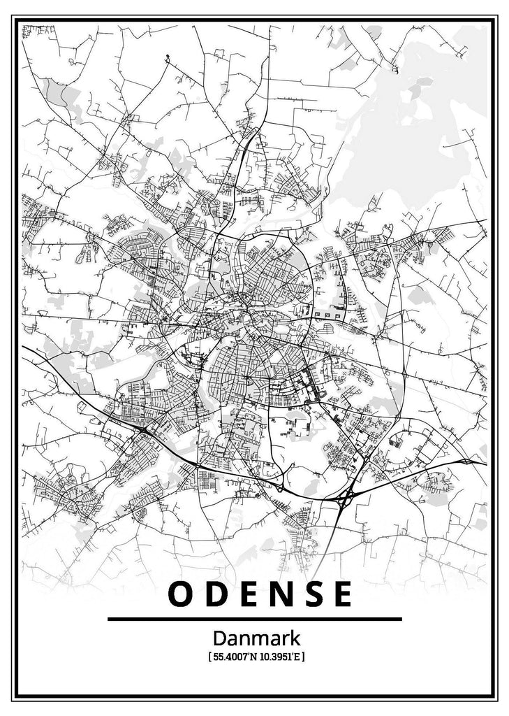 Odense plakat - CityPosters.dk