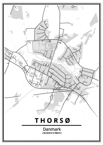 Thorsø plakat-Customized Product-CityPosters.dk