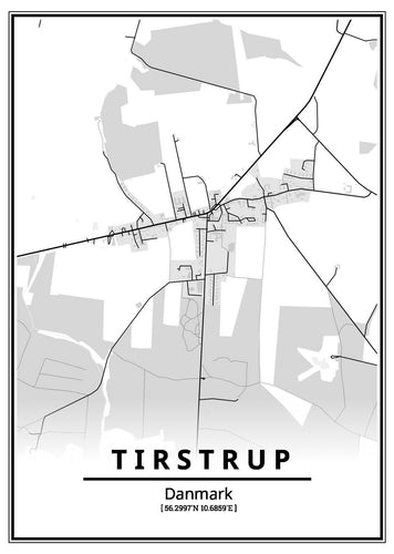 Tirstrup plakat-Customized Product-CityPosters.dk