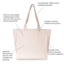 Load image into Gallery viewer, BRUSHED CANVAS FULL GUSSET TOTE