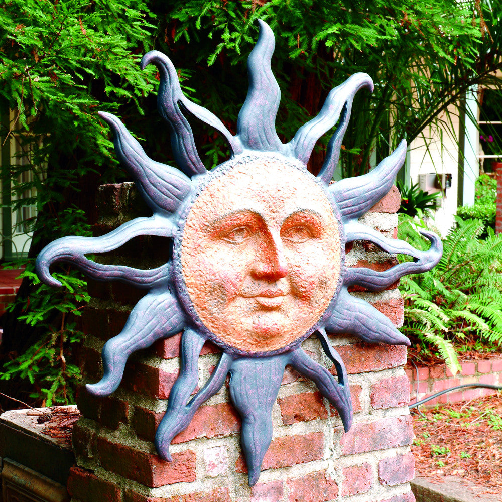 SPI Collection Heavy Duty Aluminum Rising Sun Wall Plaque - ArtsiHome - SPI Home