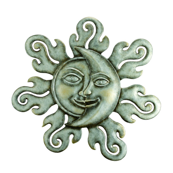 SPI Home Collection Sun & Moon Half Face Wall Plaque - ArtsiHome