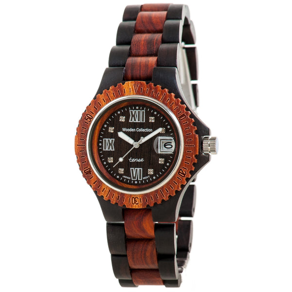 Tense Men's Sports Watch (Dark Rosewood) - ArtsiHome