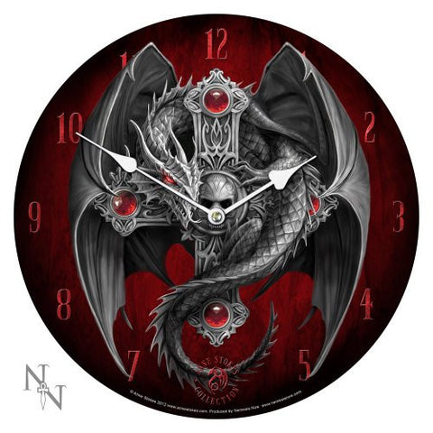 Licensed Anne Stokes Curiosity Corner Gothic Guardian Wall Clock - ArtsiHome - Pacific Trading Company