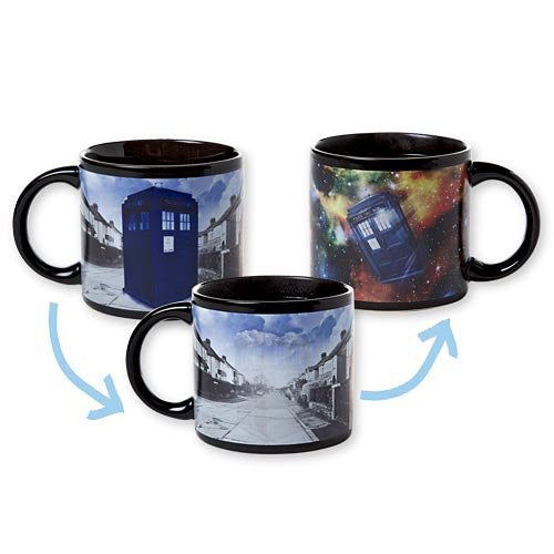 Doctor Dr Who Dissapearing TARDIS Mug T.A.R.D.I.S. Coffee Heat Reactive - ArtsiHome