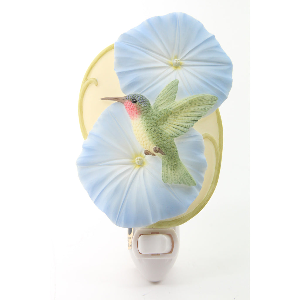 Hummingbird & Morning Glories Night Light, Ibis & Orchid Nightlights, NIB, 50143 - ArtsiHome - Ibis&Orchid - 10