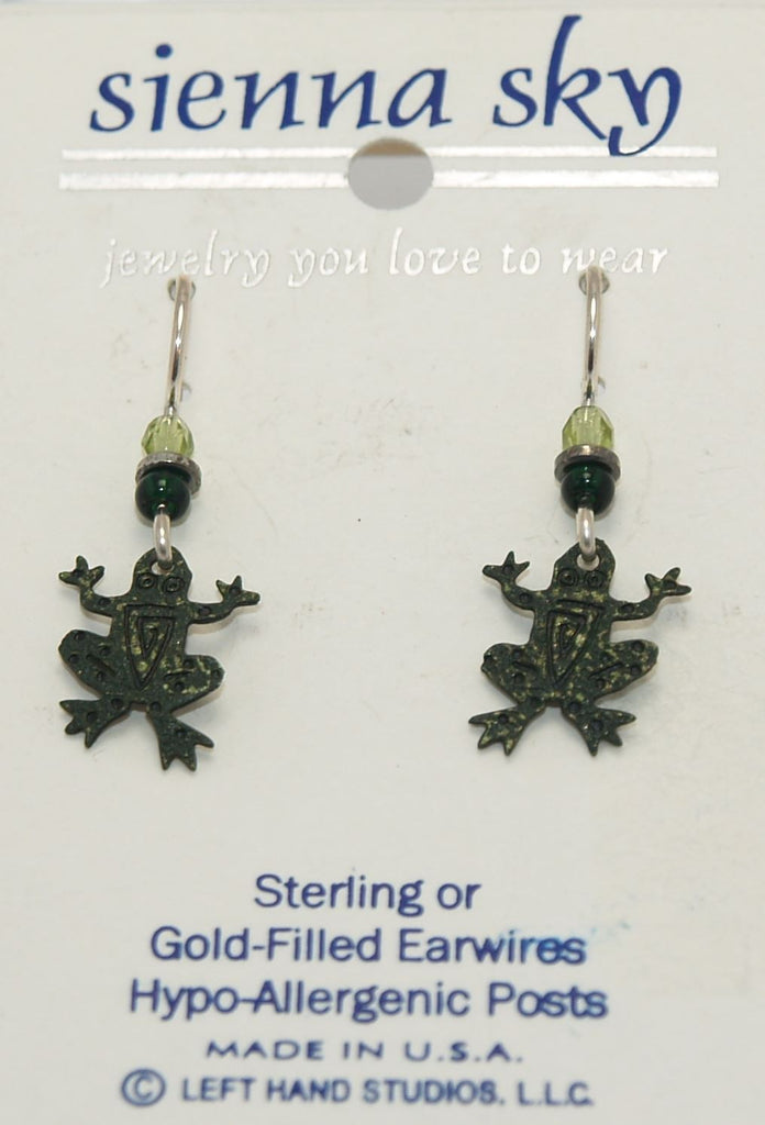 Sienna Sky Mini Painted Frogs Earrings - ArtsiHome