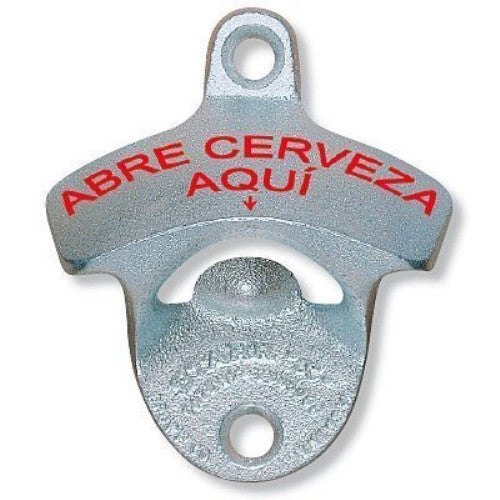 Abre Cerveza Aqui (It Opens Beer Here) Starr Wall Mounted Opener - ArtsiHome