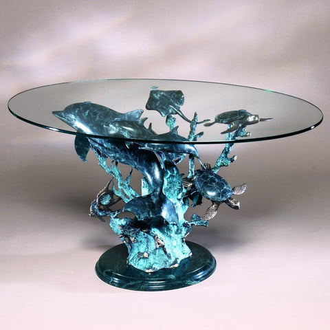 SPI Dolphin Seaworld Seascape Coffee Table - ArtsiHome