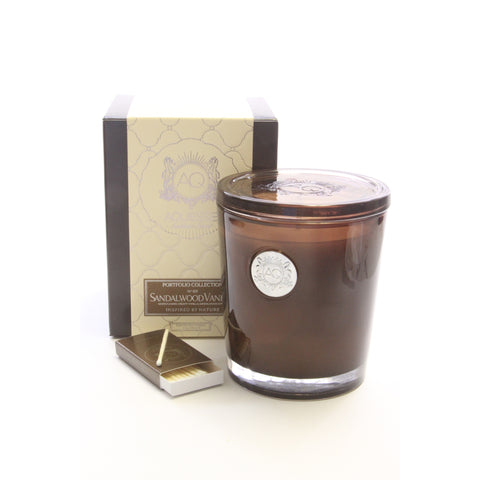 Aquiesse - Sandalwood Vanille Scented Soy Candle (10 oz) - ArtsiHome