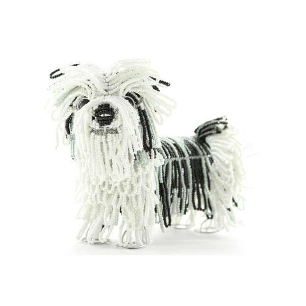 Grass Roots Creations Beaded Sculpture Shih Tzu Lilly - ArtsiHome