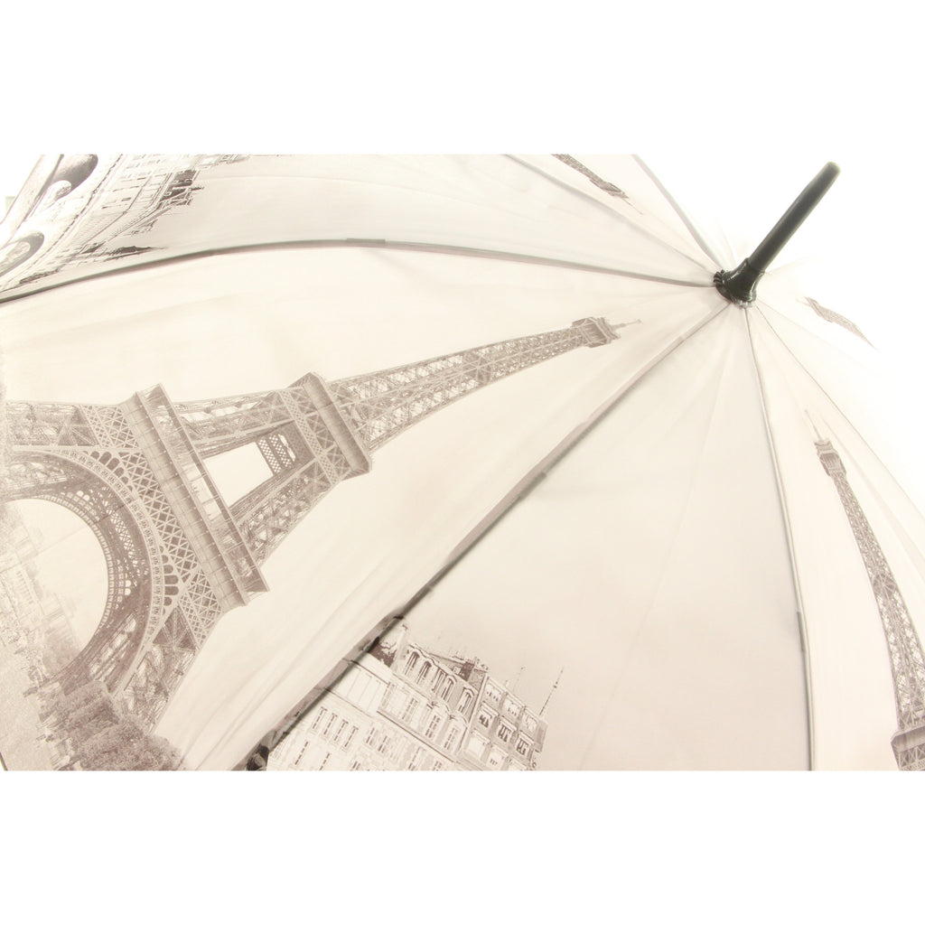 Galleria Enterprises Stick Umbrella Design Paris Black White Pattern - ArtsiHome