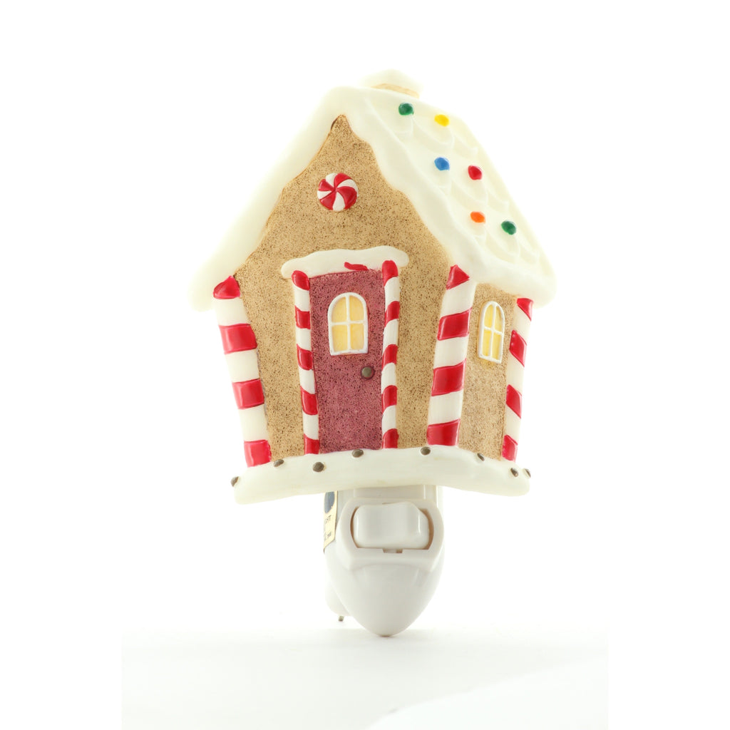 Gingerbread House Night Light, Ibis & Orchid Nightlights, NIB, 50156 - ArtsiHome