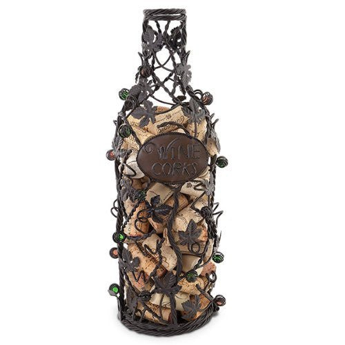 Epic Grapevine Wine Bottle Cork Cage - ArtsiHome