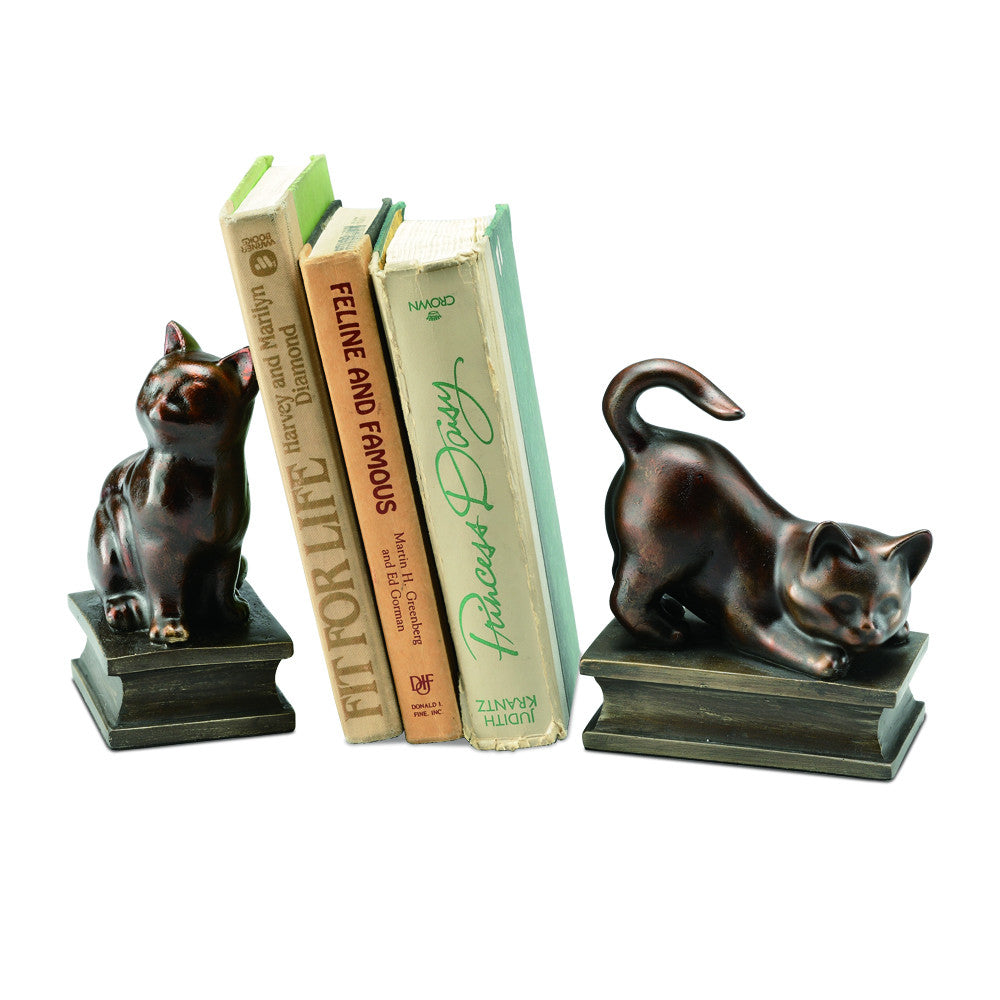 Playful Cats Bookends (pair) - ArtsiHome