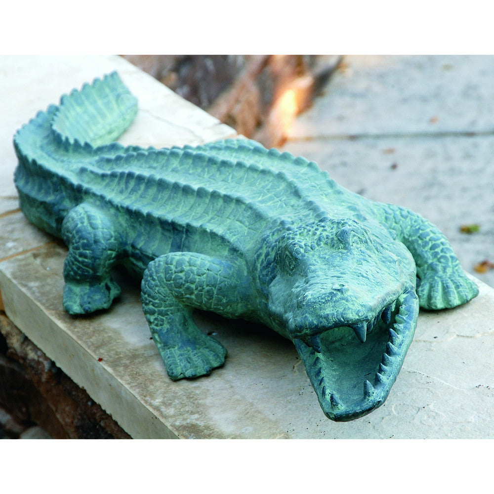 SPI Mean Old Alligator All-Weather Aluminum Outdoor Sculpture - ArtsiHome