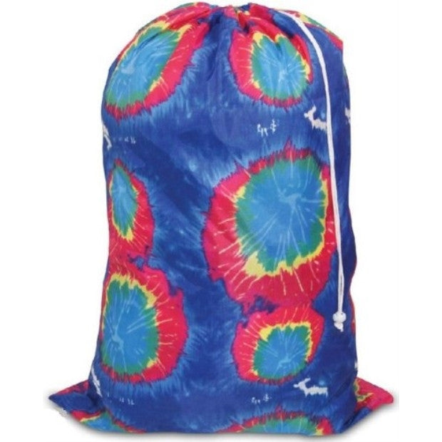 Innovative Home Creations Tie-Dyed Laundry Bag (Blue Color) - ArtsiHome