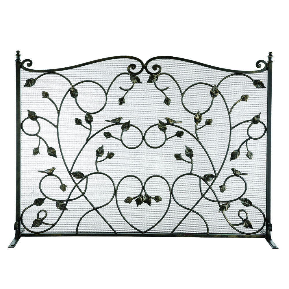 SPI Home Collection Bird Fireplace Screen - ArtsiHome