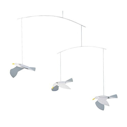 Flensted Mobiles Nursery Mobiles, Soaring Seagulls - ArtsiHome