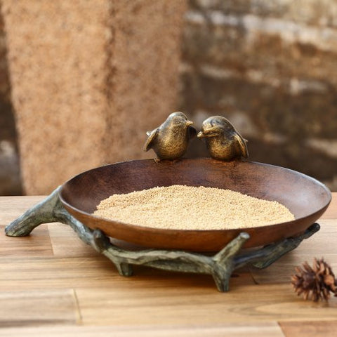 SPI Adorable Rustic Bird Couple Wild Bird Feeder - ArtsiHome