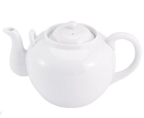 White Teapot with Infuser (32 oz) - ArtsiHome - Harold Import