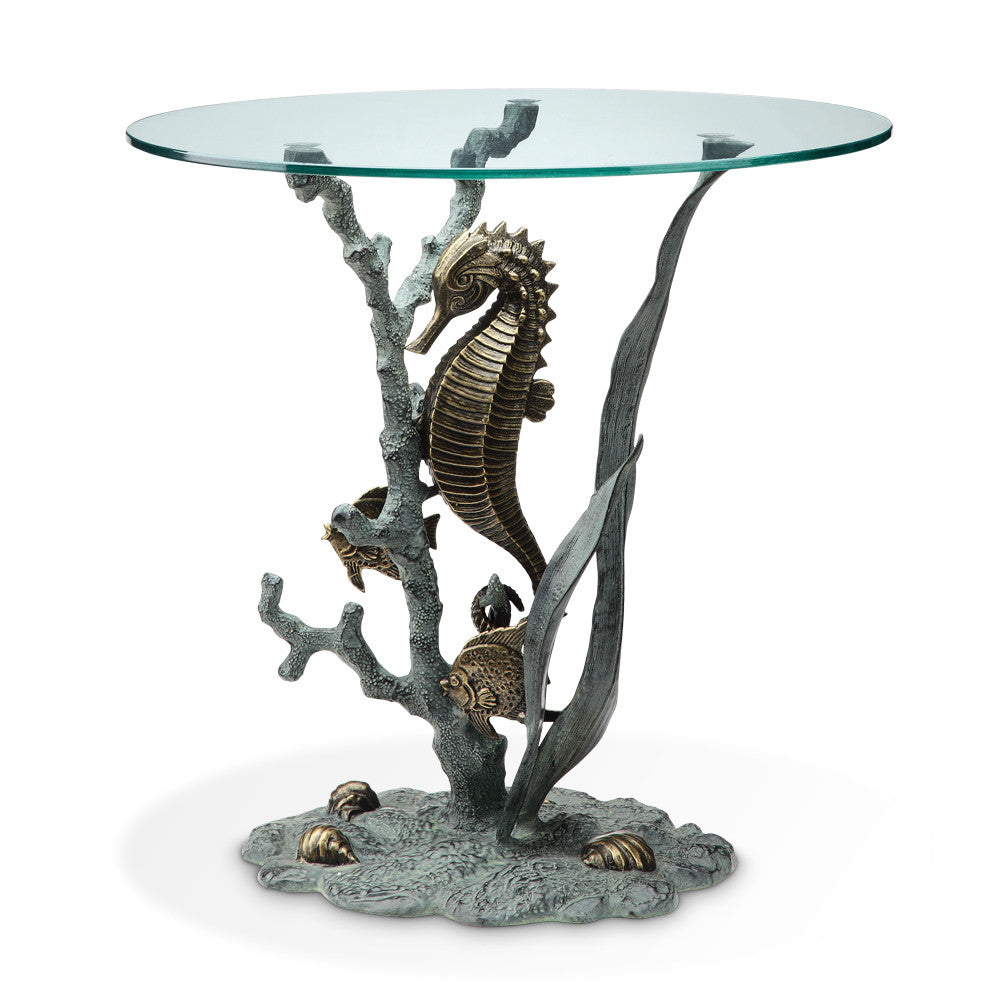 SPI Home Collection Seahorse End Table - ArtsiHome