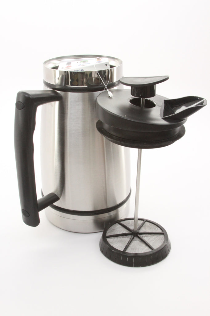 Planetary Design Table Top Stainless Steel French Presses 48oz (Brushed Stainless) - ArtsiHome