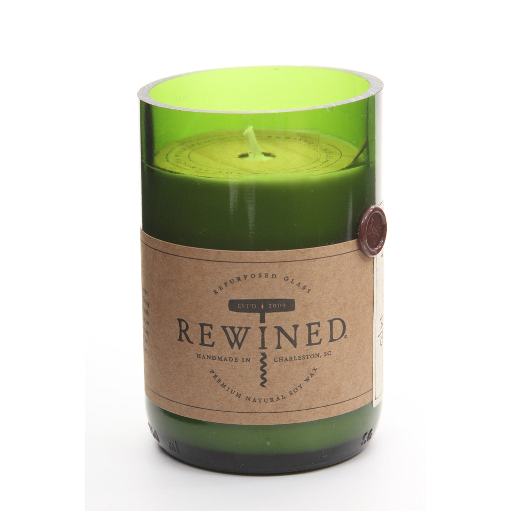 Rewined Recycled Wine Bottle Soy Wax Candle w/ Pinot Noir Scent - ArtsiHome