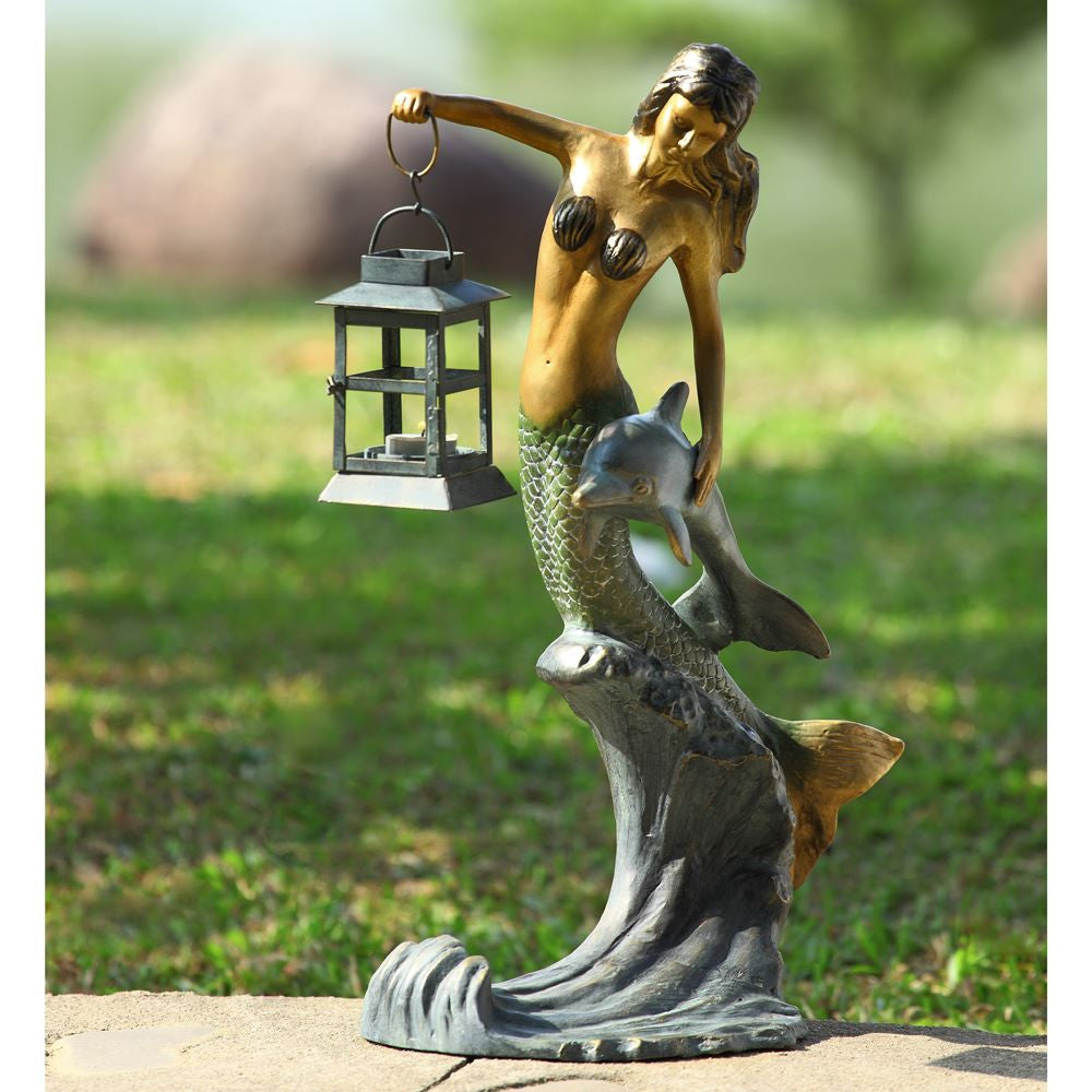 SPI Home Collection Aluminum Mermaid Lantern - ArtsiHome
