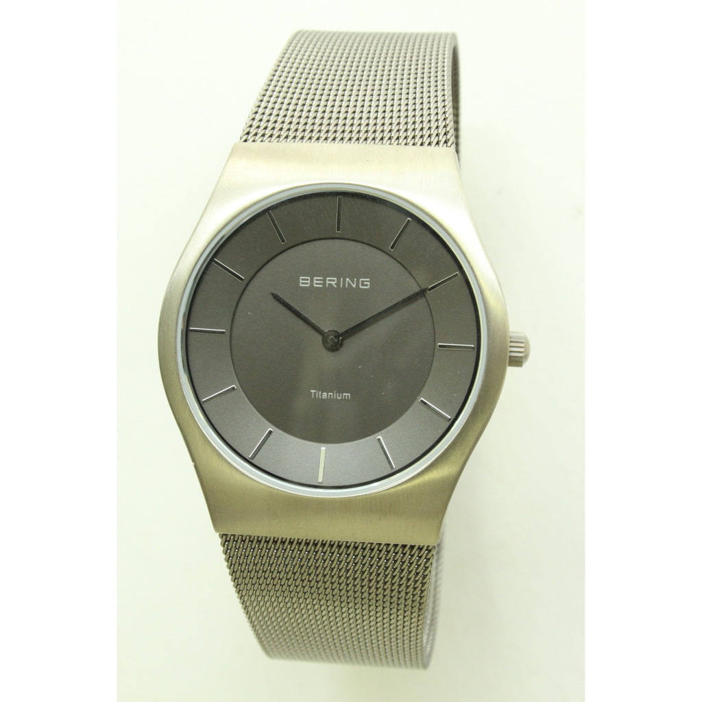 Bering Classic Slim Men's Watch (Titanium) - ArtsiHome